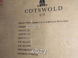 Cotswold Company Grande 3 Portes Et Tiroirs Buffet En Chêne & Dove Grey Paint