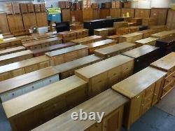 Échelle Solide Dovetaille Oak Wood Large 2door 1drawer Wardrobe H193 W113 Voir Magasin