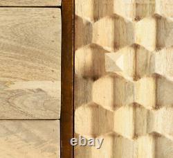 Edisa Honeycomb Effet Mangue Solide Meubles De Salon Avec Des Jambes En Métal D'or