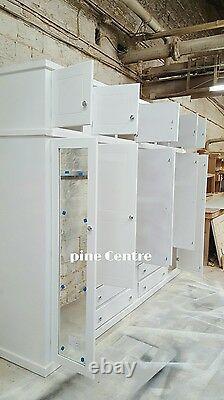 Fait Main Aylesbury (blanc) 4 Tiroir 6 Portes + Top Box Grande Garde-robe