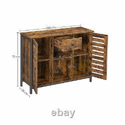 Grand Buffet En Bois Slim Cabinet Industriel Armoire De Rangement Buffet Narrow Storage