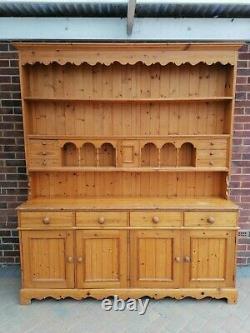 Grand Pine Massif Welsh Dresser Display Armoire Buffet Pays Style De Cuisine