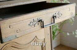 Grande Antiquité Française 19ème Siècle Chêne Dresser / Buffet A Deux Corps / Armoire
