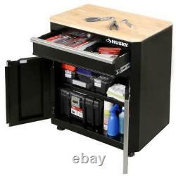 Husky Garage Base Cabinet Acier 1-drawer 2 Portes Noir (28'' W X 33 H X 18)