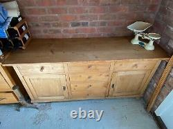 Large Vinage Pine Wooden Sideboard Dresser Drawers Tv Cabinet Etc