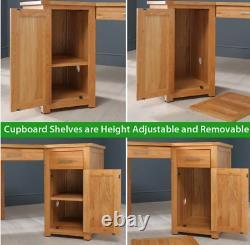 London Solid Oak Corner Home Office Desk Large 2 Portes Armoires Uk47