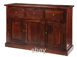Maharani Dark Solid Wood 3 Tiroirs Et 3 Portes Grandes Armoires D'armoire
