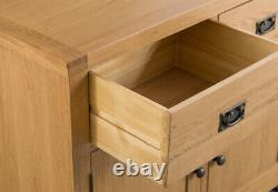 Montreal Oak Large 4 Door 3 Drawer Sideboard / Sideboard Extra Wide Oak / Nouveau