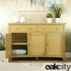 Oakland Moderne Chêne Buffet Grande 3 Portes 2 Tiroir Cabinet Tone De Bois Léger
