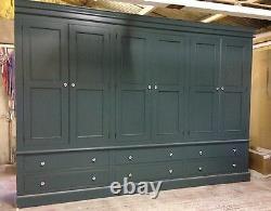 Peint 6 Portes Wardrobe Edwardian Style Avec 6 Grands Tiroirs