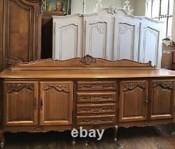Qualité / Vintage Français Louis XV Style 4 Portes/4 Tiroir Grand Buffet