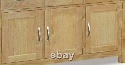 Regal Light Oak Large Sideboard / 3 Porte 3 Armoire À Tiroirs / Armoire En Bois Massif