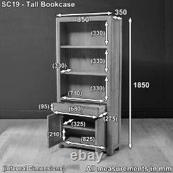 Soho Chêne Grande Bibliothèque Tall Avec 2 Armoires De Porte Et Drawer Bookshelf Sc19