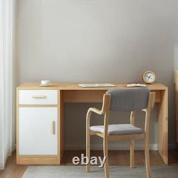 Table D'étude Pc Ordinateur Portable Grand Bureau À La Maison Avec Tiroir Et Porte