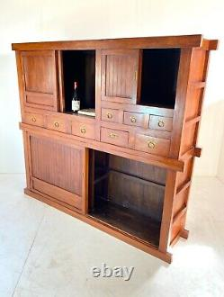 Très Grand Haberdashery, Cabinet Apothicaire / Buffet / Dressing / Tiroirs En Teck