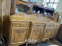 Vintage French Louis XV Style 4 Porte/4drawer Grand Buffet