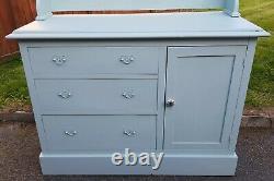 Vintage Peint Chêne Welsh Dresser Vert Upcycled Chic Country Large